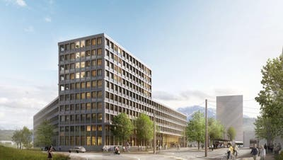 So würde das Verwaltungsgebäude aussehen. (Visualisierung: PD)