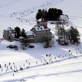 Flugaufnahme vom Engadiner 2019 in Silvaplana. Hier werden am Wochenende die Weltcupläufer unterwegs sein. (Remy Steinegger / swiss-image.ch)