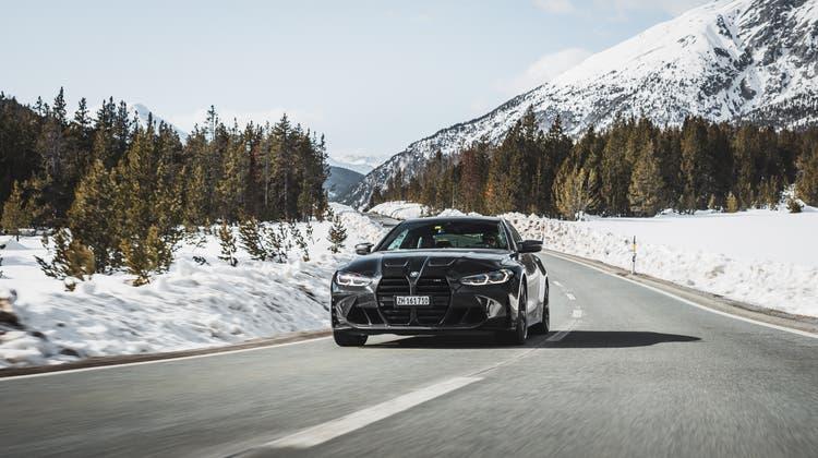 Der neue BMW M4 sorgt mit seinem Frontdesign für Diskussionen. Die Technik bleibt konventioneller. (Bild: David Künzler)