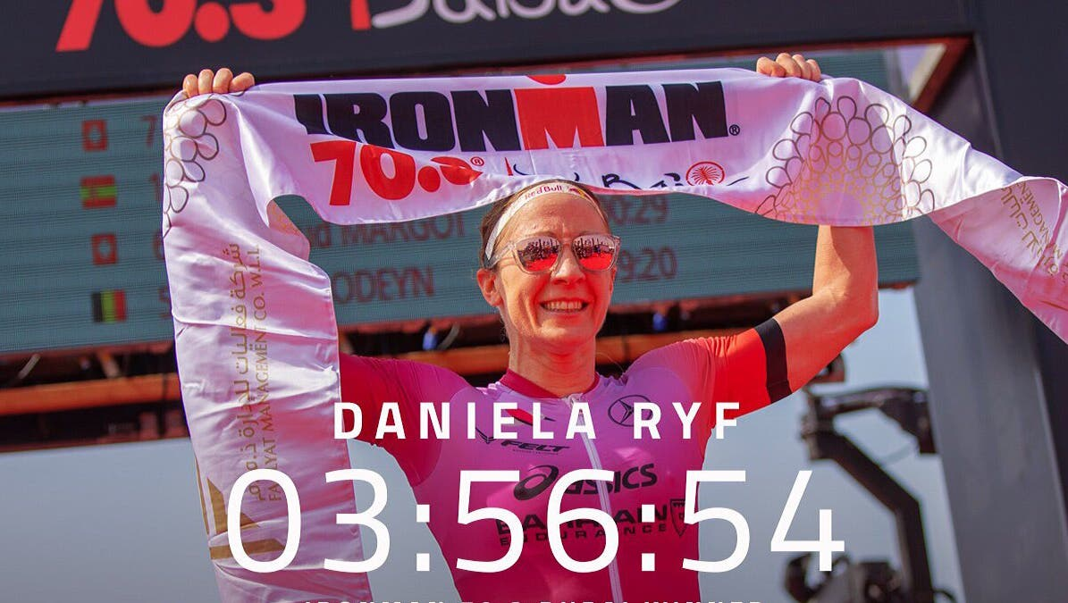 Daniela Ryf gewinnt den Ironman 70.3 in Dubai in Rekordzeit. Der vierte Sieg in Dubai für die Solothurnerin. (Ironman 70.3 Middle East)
