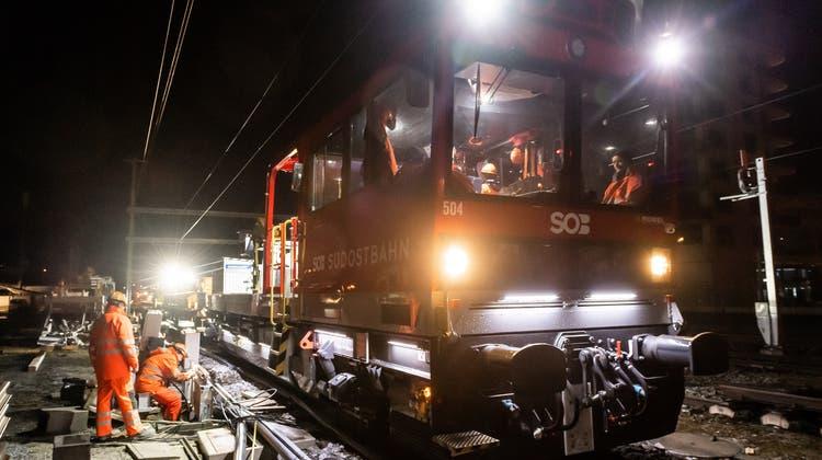 Es hat geklappt: Das neue Stellwerk am Bahnhof Wattwil wurde in Betrieb genommen. (Bild: PD)