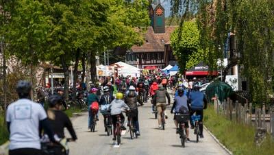 Zehntausende fahren den slowUp Solothurn-Buechibärg. Deshalb musste der Anlass auch für dieses Jahr abgesagt werden. (Hanspeter Bärtschi)