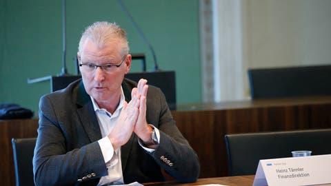 Finanzdirektor Heinz Tännler ist überzeugt, dass das Zuger Härtefallprogrammäusserst wirkungsvoll ist. (Bild: Stefan Kaiser (Zug, 24. Mai 2020))