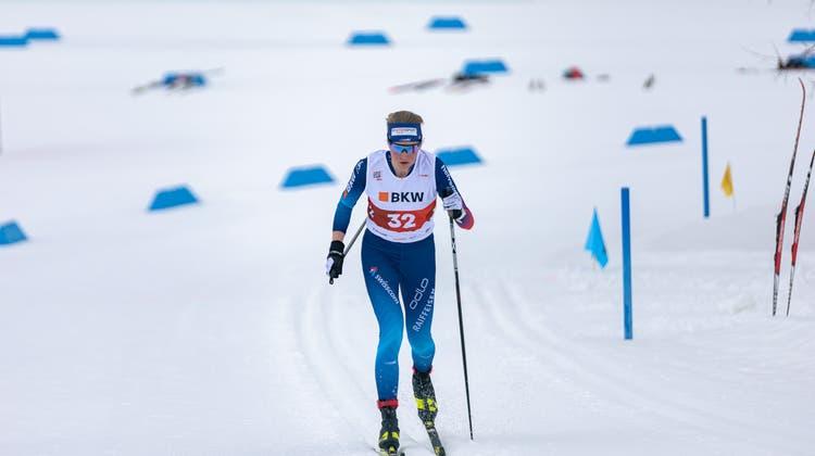 Die Engelbergerin Lea Fischer schaffte es im Sprint auf den fünften Rang. (Bild: Loris Kaufmann)