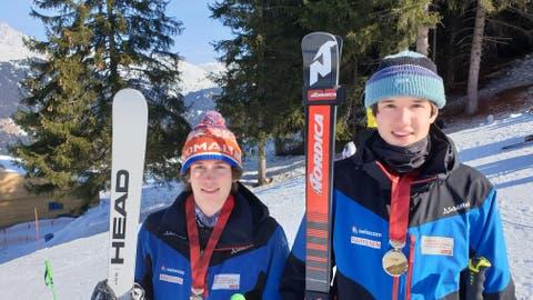 Lenz Hächler (rechts) gewinnt die Goldmedaille, Joel Iten Bronze. (Bild: PD)