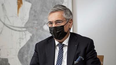 Der Luzerner Gesundheits- und Sozialdirektor Guido Graf in einem Sitzungszimmer seines Departements im Regierungsgebäude. (Bild: Manuela Jans-Koch (11. März 2021))