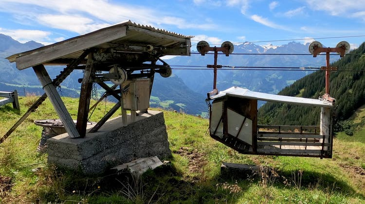 Teil des engmaschigen Seilbahnnetzwerks im Schächental: Materialseilbahn im Gebiet Ruogig. (zvg)
