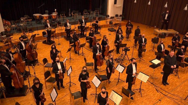 Argovia Philharmonic streamte zuletzt noch aus dem Gemeindesaal. (Wolfgang Drechsler / Aargauer Zeitung)