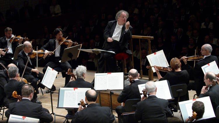 James Levine mit dem Boston Symphony Orchestra am 26.08.2007 im KKL anlässlich des Lucerne Festival. (Priska Ketterer / LF)