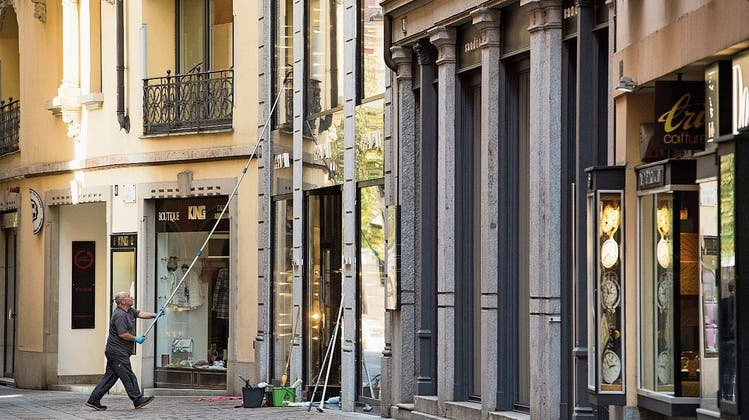 Herausputzen reicht nicht: Lugano kämpft mit grösseren Problemen. (Bild: Alessandro Crinari/Key ( 7. Mai 2020))