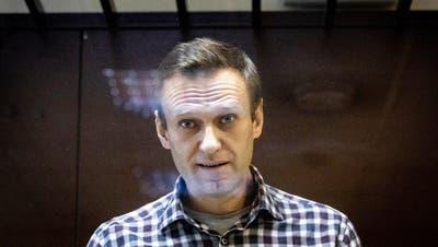 Nawalny vor Gericht in Moskau. (AP/Alexander Zemlianichenko)