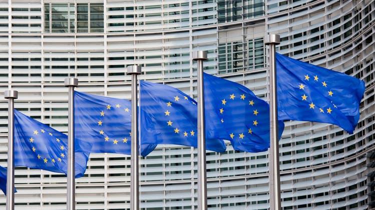 Europaflaggen in Brüssel (Bild: fotolia)