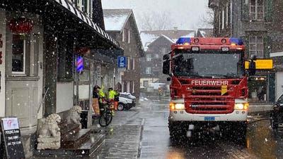 Die Feuerwehr beim Einsatz in Unterägeri. (Bild: PD)
