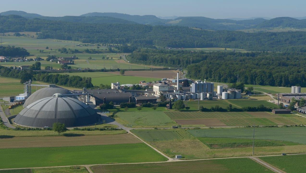 Die Saline Riburg kann bis zu 50 Tonnen Salz pro Stunde produzieren und wird in einigen Jahren Sole aus dem «Nordfeld» aufbereiten. (Bild: zvg (Februar 2020))