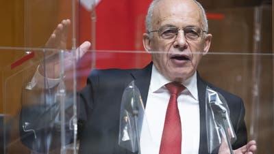 Bundesrat Ueli Maurer hatte dem Nationalrat zuweilen einen «Ausgabenrausch» unterstellt. (Keystone)