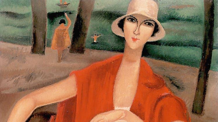 Alice Bailly (1872-1938): «Femme en rouge», Jahr unbekannt. (Bild: Alamy)