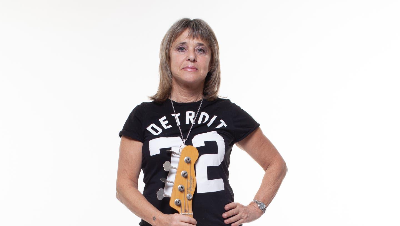 Suzi Quatro, amerikanische Rocksängerin, Bassistin und Schauspielerin, 2016 in Grossbritannien. (Richard Ecclestone/Redferns)