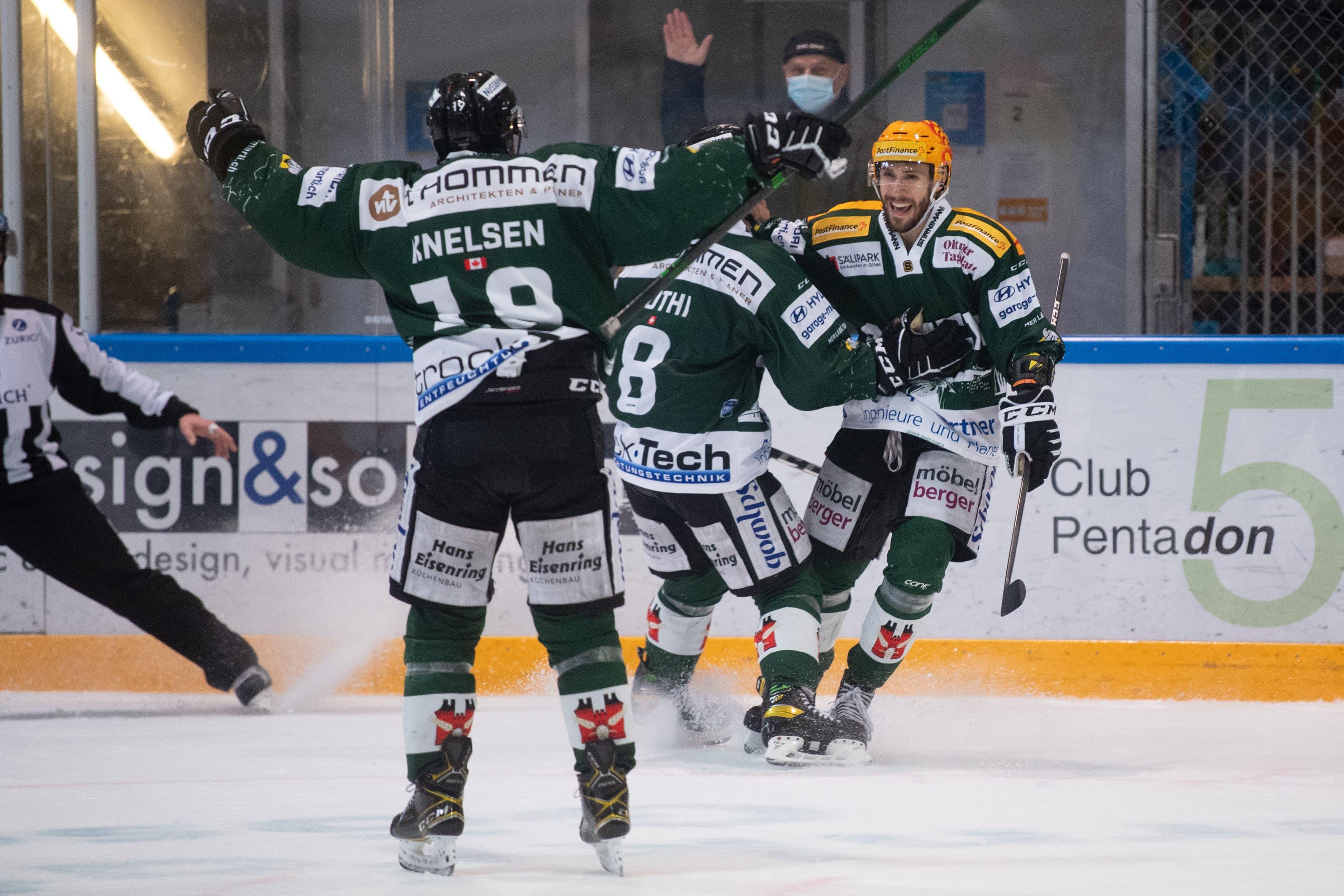 Der EHC Olten gewinnt auch das zweite Spiel in der Playoff-Serie gegen den HC Sierre.