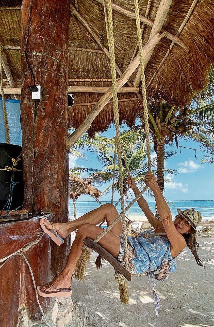 Hier geniesst Christa De Luigi die Karibik.