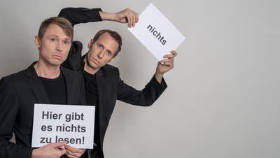 Das Duo «Ohne Rolf» kehrt auf die Bühne zurück. (Bild: PD)