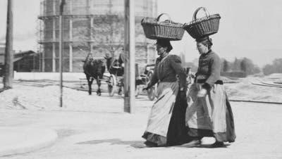 Schlecht bezahlt und schlecht gestellt: Basler Wäscherinnen im frühen 20. Jahrhundert. (Staatsarchiv Basel-Stadt)