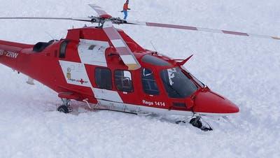 Ein Helikopter der Rega im Einsatz. (Symbolbild: PD)