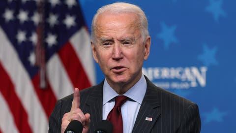 Abkehr von der nachsichtigen Politik gegenüber dem Kreml: US-Präsident Joe Biden verhängt Sanktionen gegen Russen. (Alex Wong / Getty Images North America)