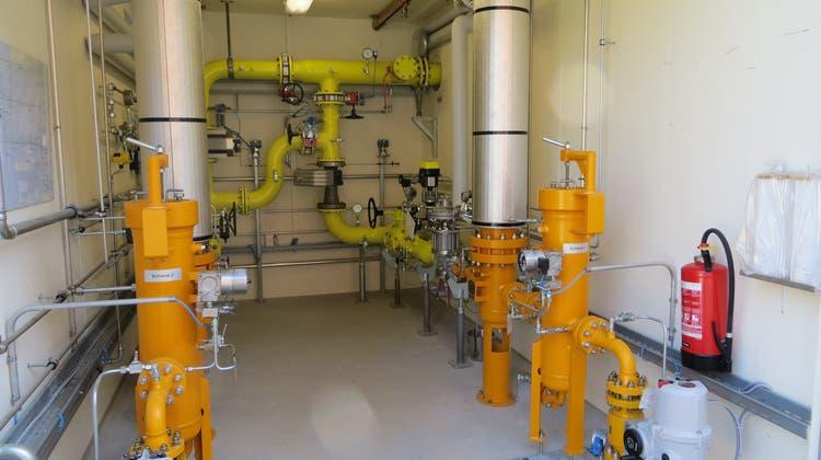 Blick in eine Druckreduzier- und Messstation: Die Refuna AG hat die Erdgas Ostschweiz AG mit der Planung eines Erdgasanschlusses an die bestehende Erdgas-Hochdruckleitung Remigen-Glattfelden beauftragt. (zvg)