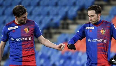 Fabian Frei und Luca Zuffi sind gute Freunde. Doch ihre gemeinsame Zeit beim FC Basel könnte bald zu Ende sein. (Freshfocus)