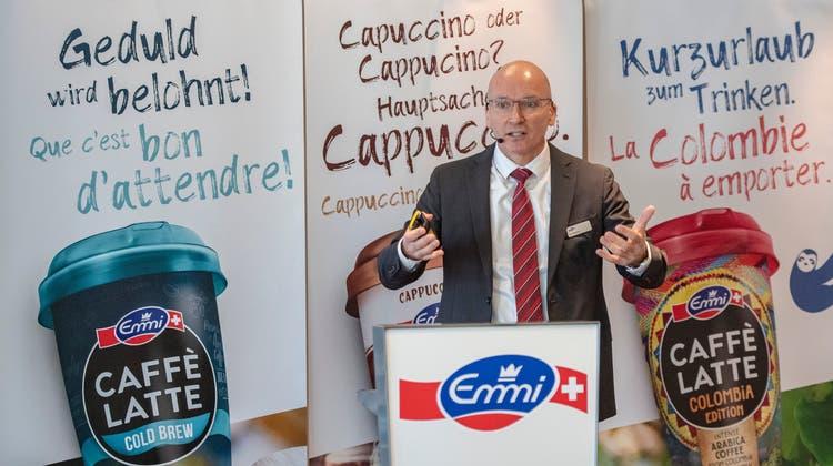 Emmi-CEO Urs Riedener an einer früheren Bilanzmedienkonferenz in Luzern. (Bild: Urs Flüeler/Keystone (28. Februar 2019))