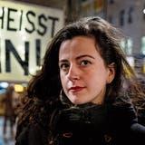 Aktivistin Morena Diaz bei einer Kundgebung in Basel. (Bild: Kenneth Nars (2.2.2021))