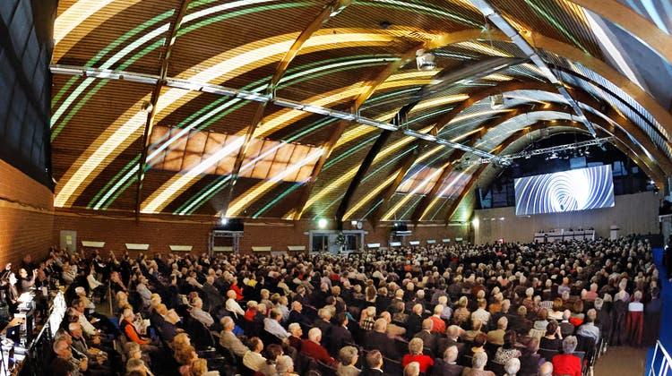 Ein -Bild aus vergangenen Zeiten: Die Generalversammlung der Hypothekarbank Lenzburg 2019. (Andre Albrecht)
