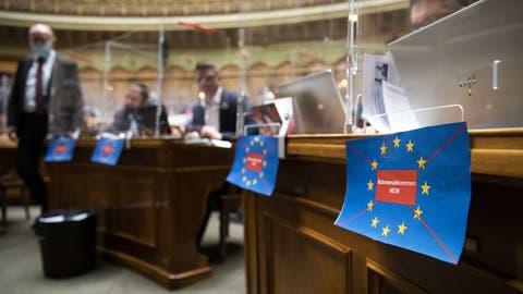 Rahmenabkommen mit der EU: Viel Widerstand aus vielen Gründen. (Keystone)