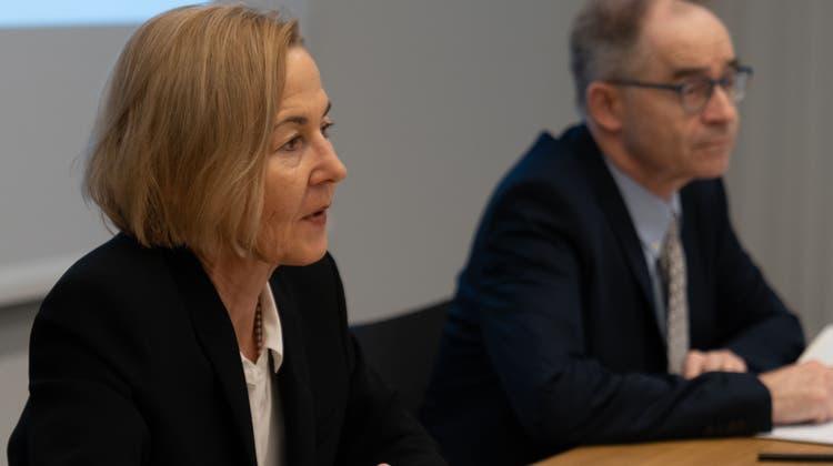 Susanne Schaffner, Regierungsrätin, und Thomas Zuber, Kommandant Kantonspolizei (Archivaufnahme). (Thomas Jud / Solothurner Zeitung)