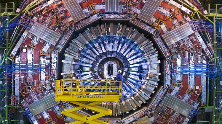 Ein Detektor des Teilchenbeschleunigers LCH (Large Hadron Collider) des europäischen Cern in Genf. (Zvg Cern / WIS)