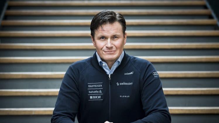 Der Schweizer Skipräsident Urs Lehmann hat Ambitionen. (Bild: Keystone)