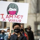 Nach dem Angriff auf acht asiatische Menschen, meldet sich Biden zu Wort. (Bild: Keystone/ Alexandra Wimley / AP)