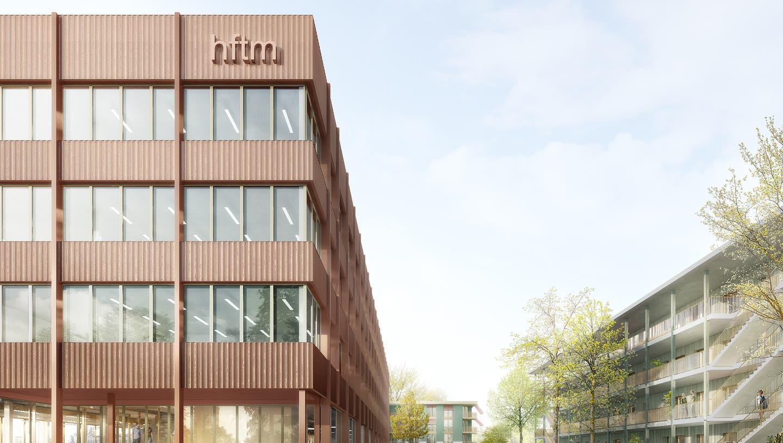 Campus Technik Grenchen: So sieht das Siegerprojekt der Stähelin Partner Architekten AG aus Basel aus. (Zvg / sol)