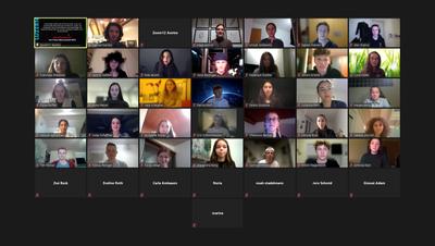 Nominierte Schülerinnen und Schüler, per Online-Meeting zugeschaltet. (Bild: PD)
