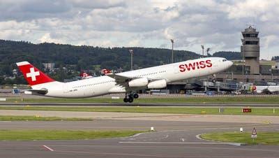 Die Swiss fliegt mit den Langstreckenflugzeugen Airbus A340 auch innerhalb Europas. (Imago Images)