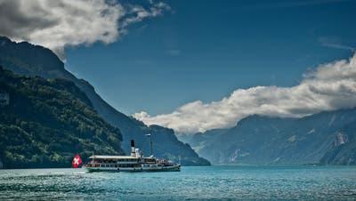 Das Dampfschiff «Uri» auf der Strecke von Luzern nach Flüelen. (Bild: Pius Amrein  (15. Juli 2014))