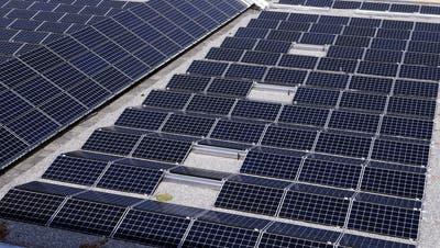 Auf dem Dach der Turnhalle Waldegg in Risch befindet sich bereits eine Solaranlage. Bald könnten solche bei Liegenschaften des Kantons Zug folgen. (Bild: Werner Schelbert (2. September 2016))