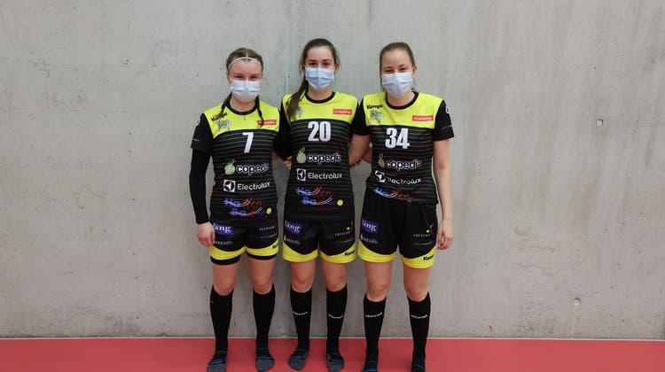 Das Trimbacher Trio in Diensten der Wizards: (v.l.) Anja Wyss,Sarah Christen und  Tanja Kyburz (Jörg Oegerli)