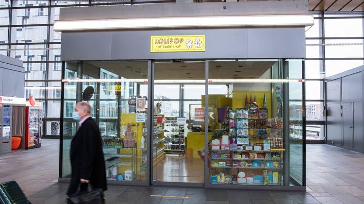 Noch ist die Lolipop-Filiale am Bahnhof SBB geschlossen. Dies seit Mitte Februar wegen Liquidation vormaligen Besitzerin Lolox AG. (BIld: Nicole Nars-Zimmer)