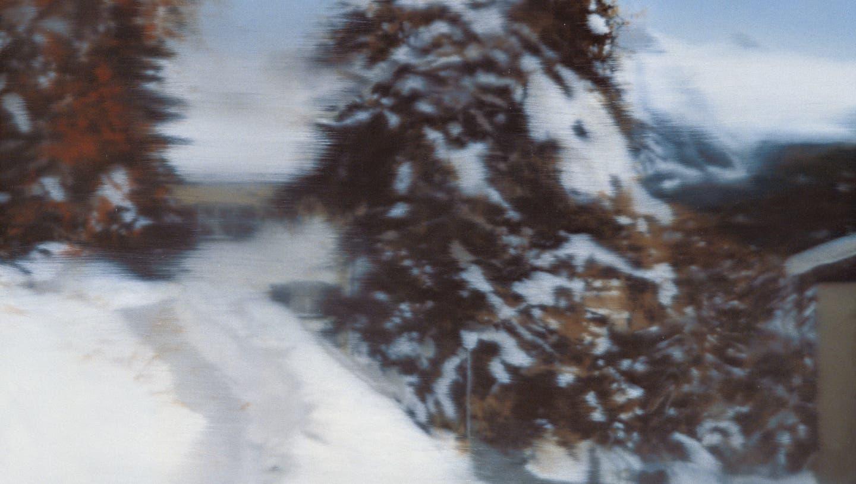 «St. Moritz», 1992. Öl auf Leinwand. (Privatbesitz Schweiz)