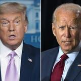 Zwei Präsidenten, zwei Kommunikationsstile: Donald Trump und Joe Biden. (AP)