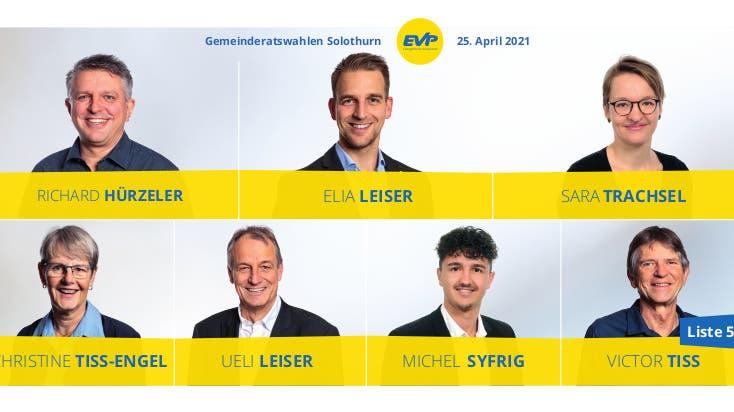 EVP will mit diesen Kandidierenden den Einzug in den Gemeinderat schaffen