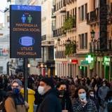Maskenpflicht gilt auch in Madrid. Die Bars, Fitnesstudios und Kinos aber sind offen (Getty (13. März 2021))