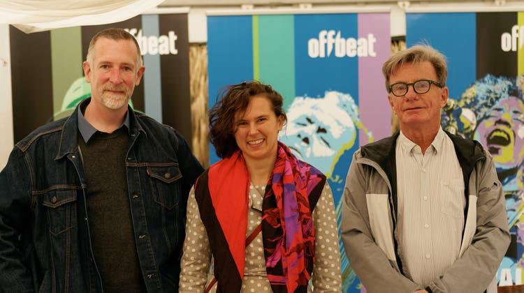 Pressetermin Offbeat Festival Basel. (Von links) Lukas Schürmann, Maja Barroso und Urs Blindenbacher. (Goffredo Loertscher / bz Zeitung für die Region)