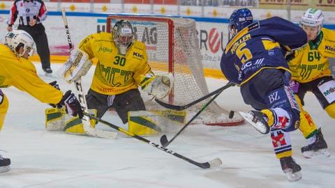 Nicola Aeberhard und der HC Thurgau liegen im Playoff-Viertelfinal 1:3 in Rückstand. (Leroy Ryser)